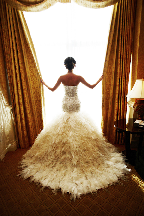 backless-mermaid-feathered-wedding-dress